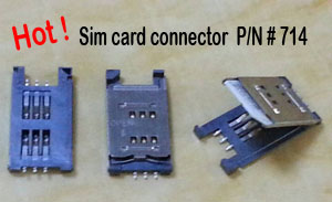 Sim card connector,714