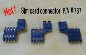 Sim card connector,737